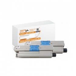 Toner 2er Set alternativ zu Oki 44469803 XL f�r Oki...