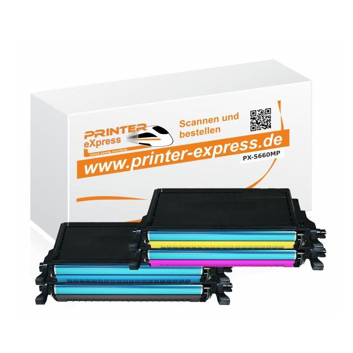 Printer-Express XL-SET 4 Toner für Samsung CLP660, CLP-660