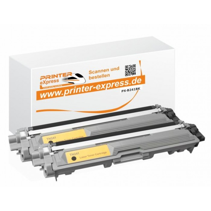 Toner 2er Set alternativ zu Brother TN-241BK, TN241BK,...