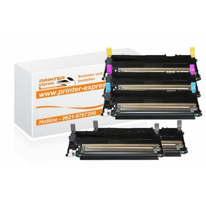 Toner Multipack alternativ zu Samsung CLP-320 5...