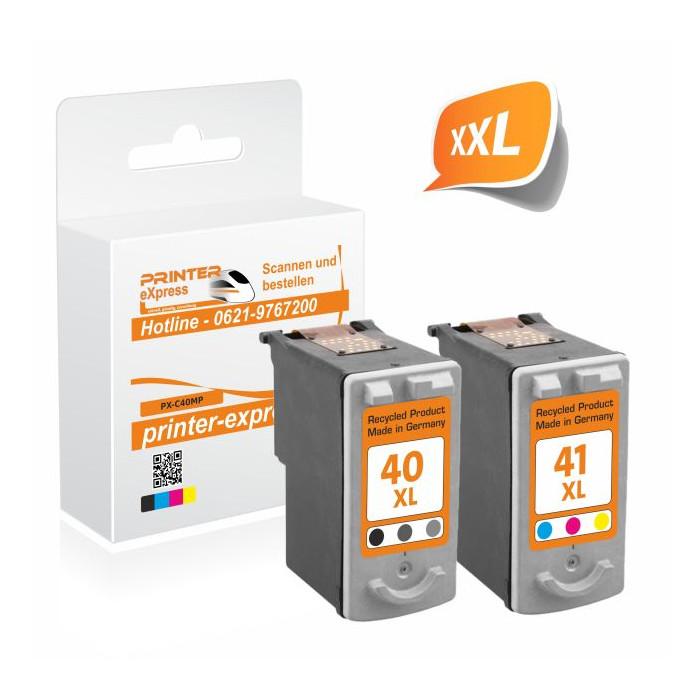 Printer-Express 2er Set Druckerpatronen ersetzt Canon...