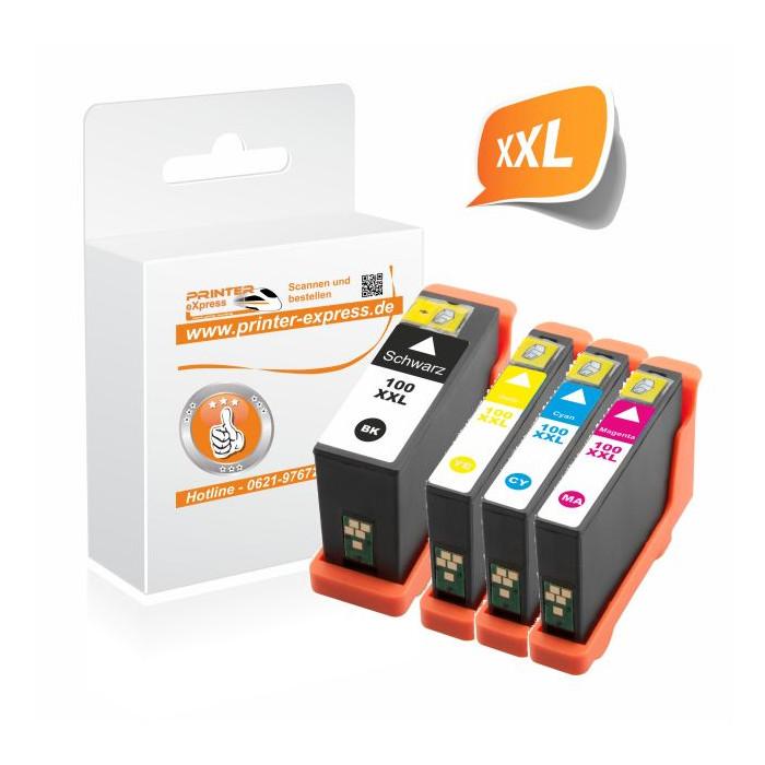 Printer-Express 4er Set Druckerpatronen ersetzt Lexmark...