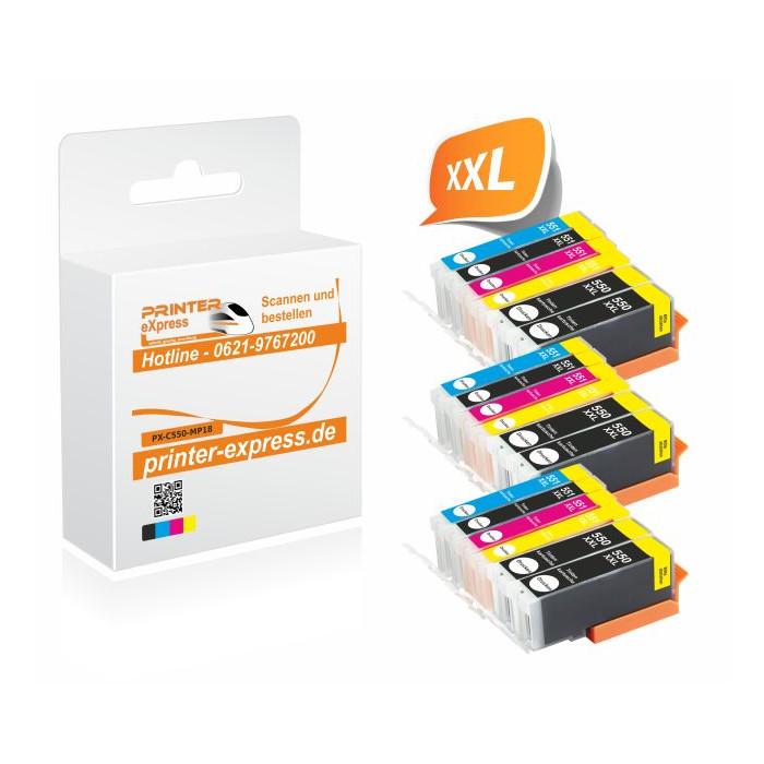 Printer-Express 18er Set Druckerpatronen ersetzten...