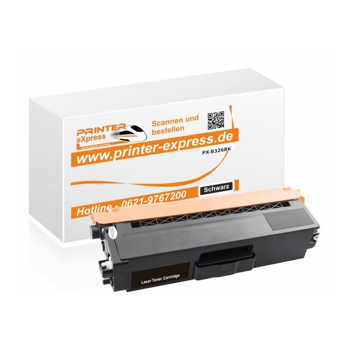 Toner alternativ zu TN-326BK, TN326BK für Brother Drucker...