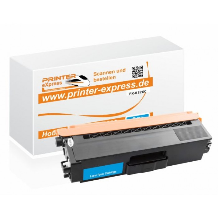Toner alternativ zu TN-326C, TN326C für Brother Drucker cyan