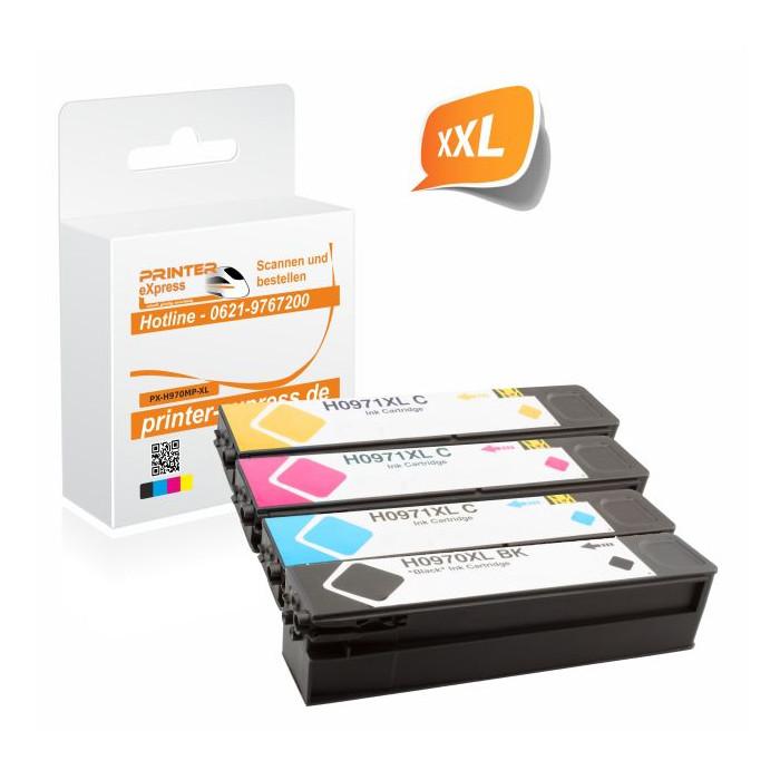 Printer-Express 4er Set Druckerpatronen ersetzt HP 970XL,...