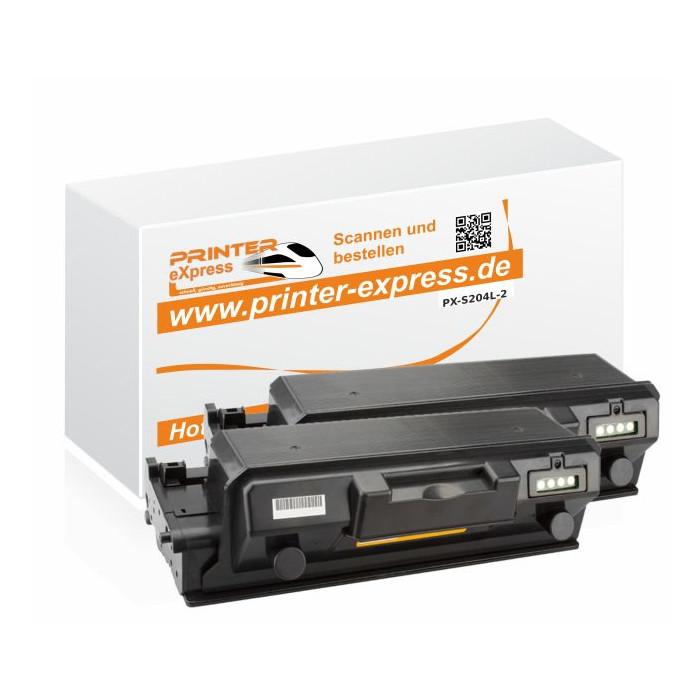 Toner 2er Set alternativ zu Samsung D204L, MLT-D204/ELS...