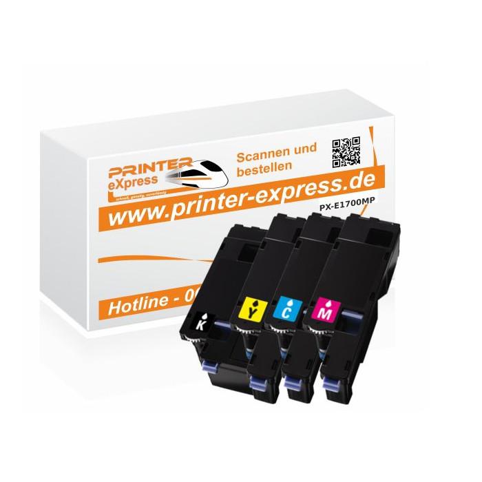 Toner 4er Set alternativ zu CX17, C1700 für Epson Drucker