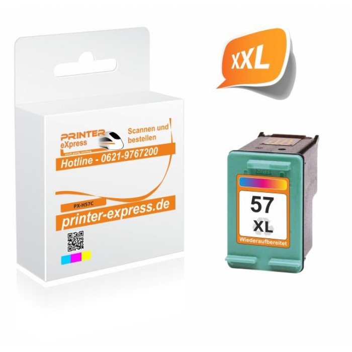 Printer-Express Druckerpatrone ersetzt HP 57XL, 57,...