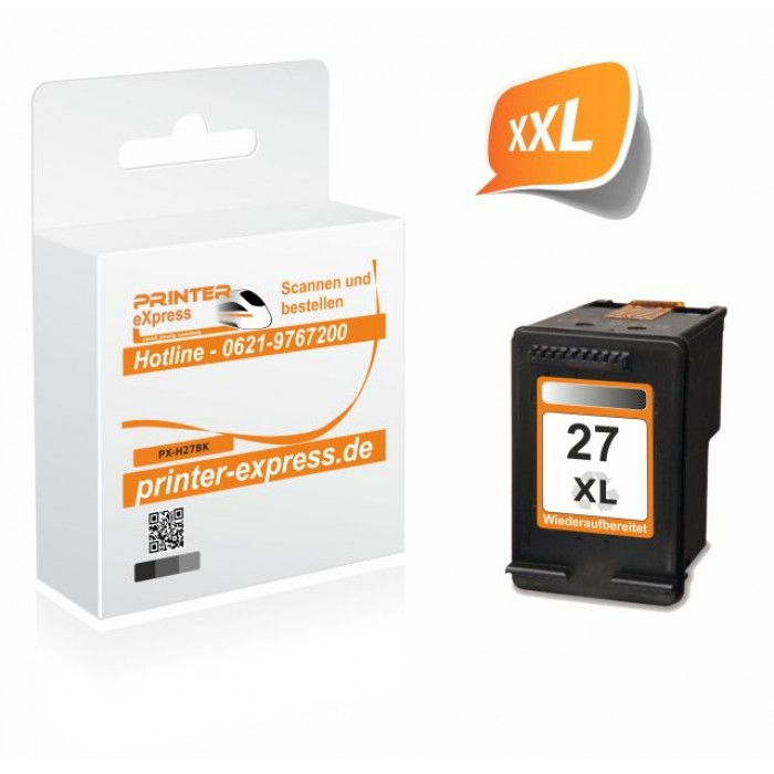 Printer-Express Druckerpatrone ersetzt HP 27XL, 27,...