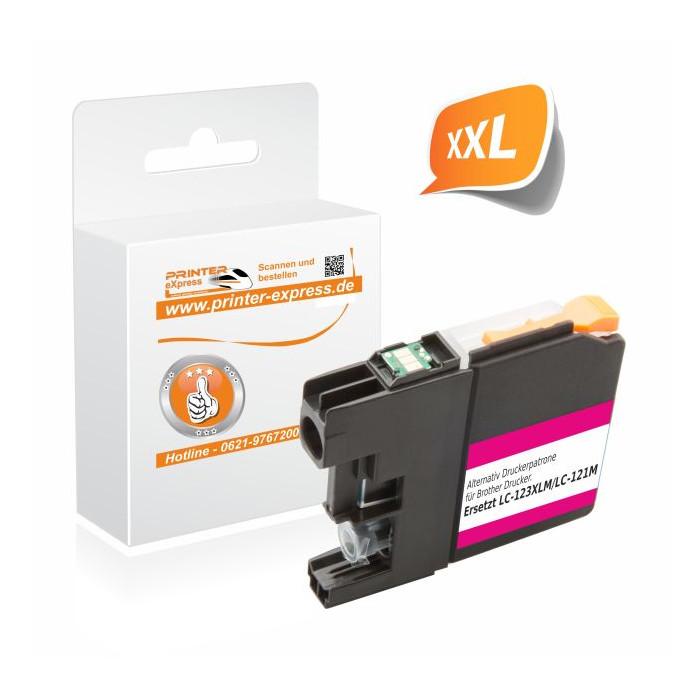 Printer-Express Druckerpatrone ersetzt Brother LC-123M...
