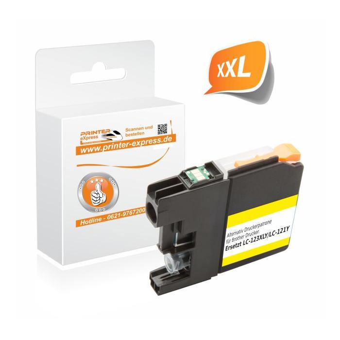 Printer-Express Druckerpatrone ersetzt Brother LC-123Y...