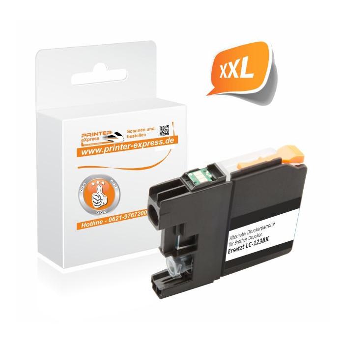 Printer-Express Druckerpatrone ersetzt Brother LC-123BK...
