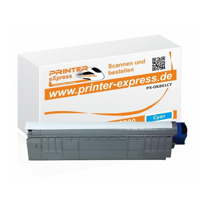 Toner ersetzt Oki 44643003, C801, C801 XL für Oki Drucker...