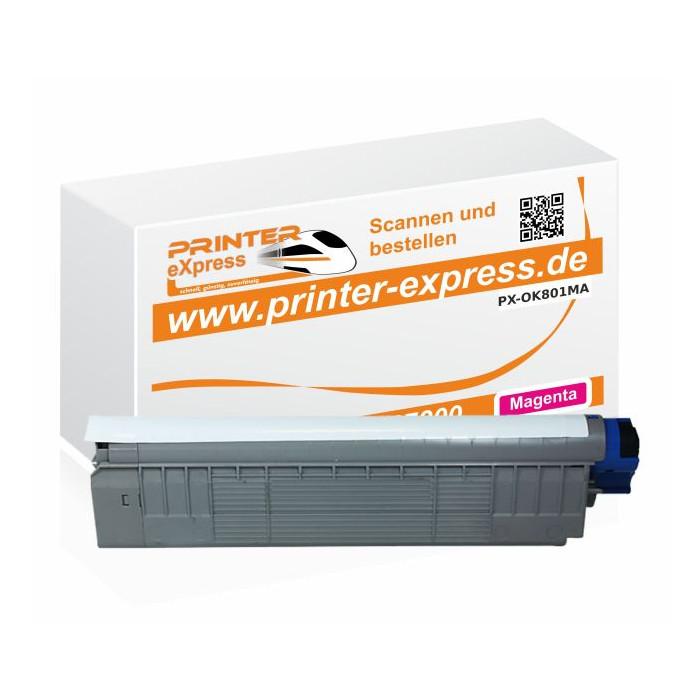 Toner ersetzt Oki 44643002, C801, C801 XL für Oki Drucker...