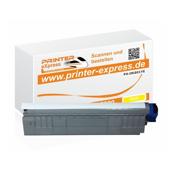 Toner ersetzt Oki 44643001, C801, C801 XL für Oki Drucker...