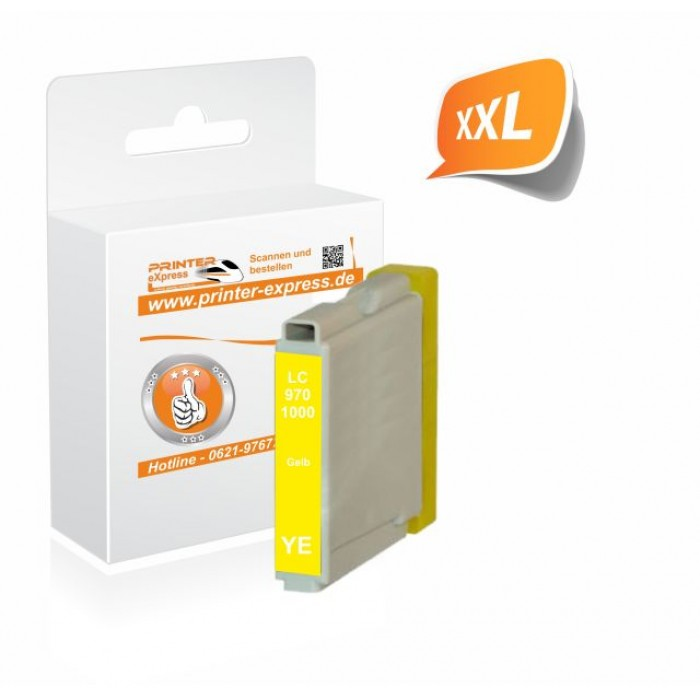 Printer-Express Druckerpatrone ersetzt Brother LC-970Y,...