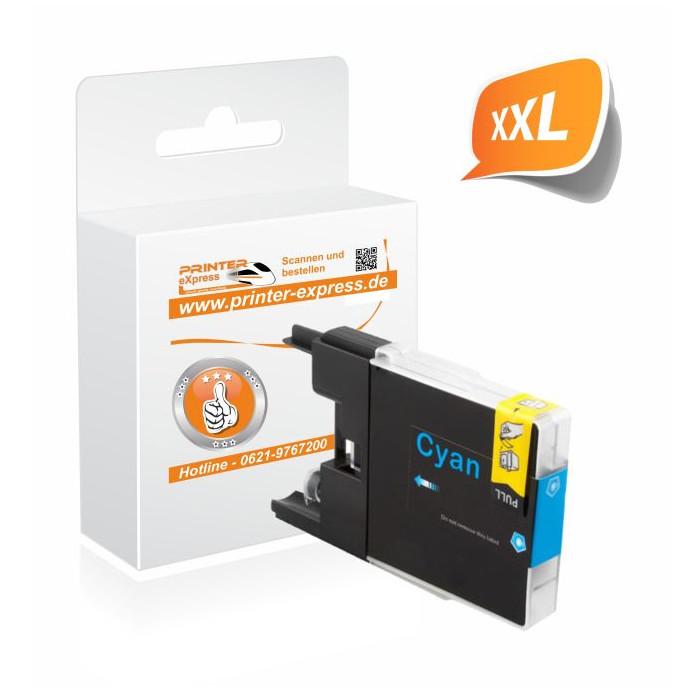 Printer-Express Druckerpatrone ersetzt Brother LC-1280C,...