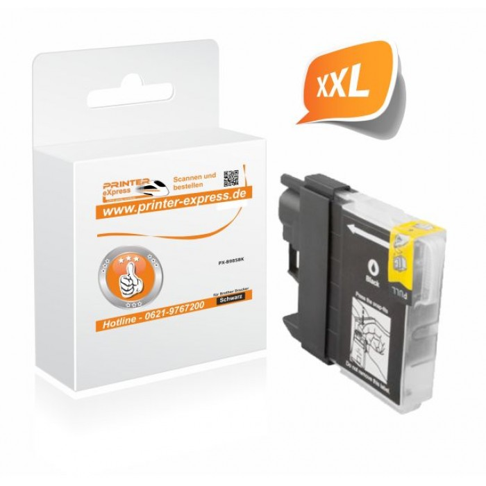 Printer-Express Druckerpatrone ersetzt Brother LC-985BK...