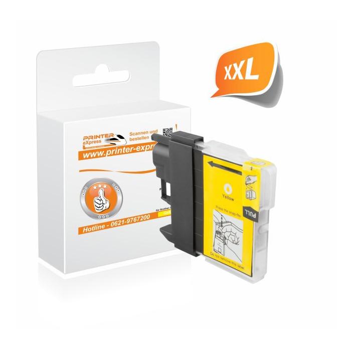 Printer-Express Druckerpatrone ersetzt Brother LC-985Y gelb