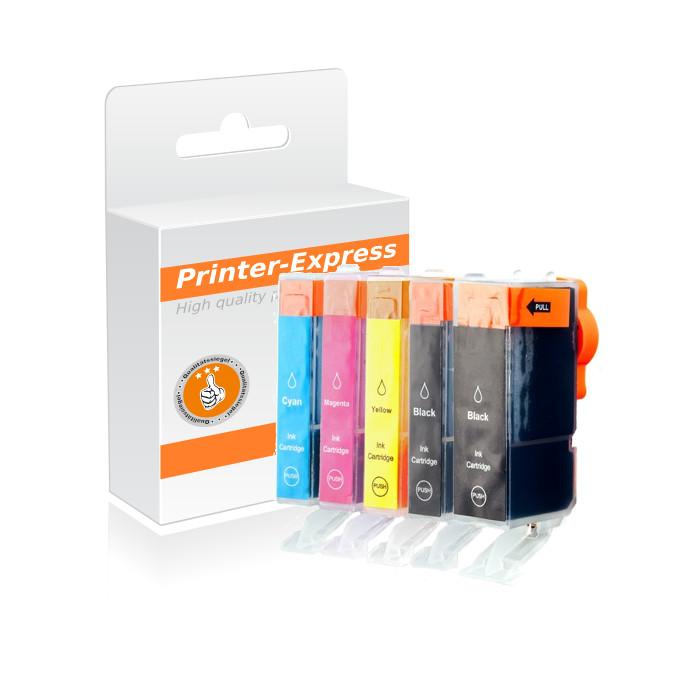 Multipack 5 Druckerpatronen alternativ zu PGI-520 und...
