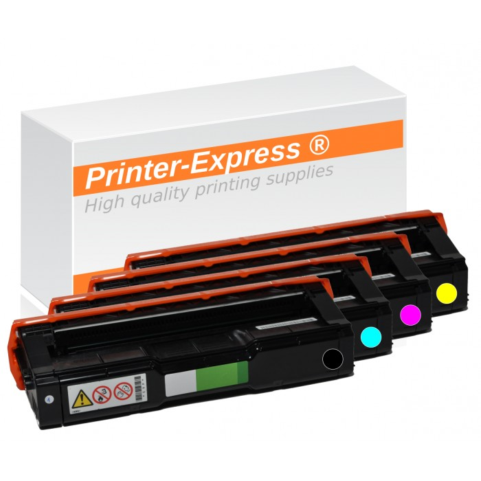 Toner 4er Set alternativ zu Ricoh SP-C220, 406094,...