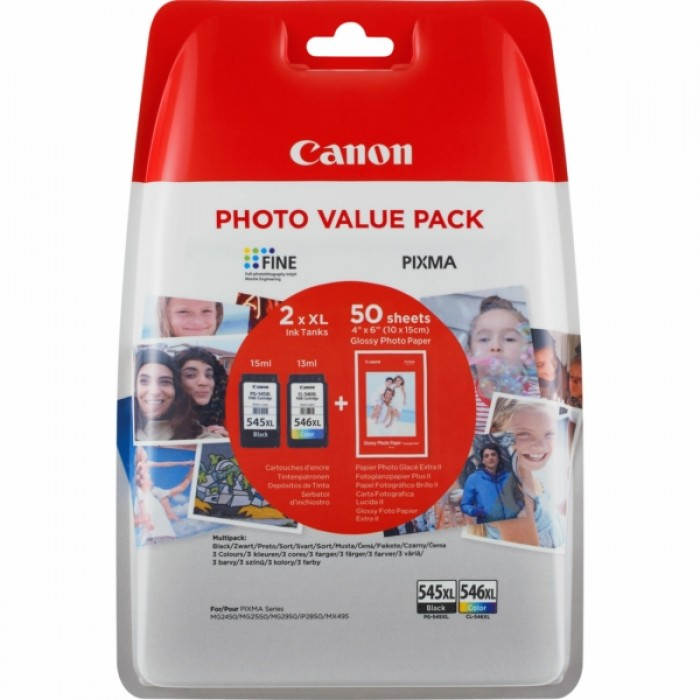 Canon Value Pack 2er Set PG-545XL, CL-546XL mit 50 Blatt Fotopapier