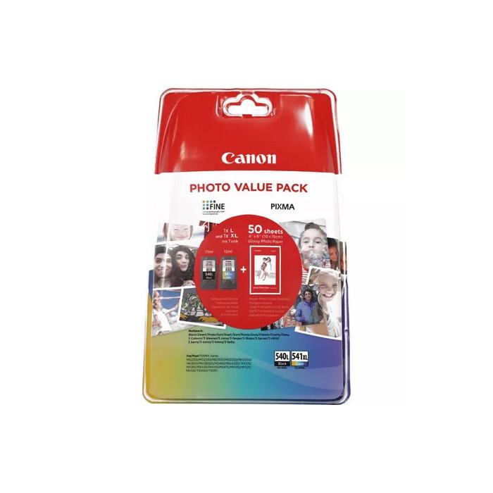 Canon Value Pack 2er Set PG-540XL, CL-541XL mit 50 Blatt...