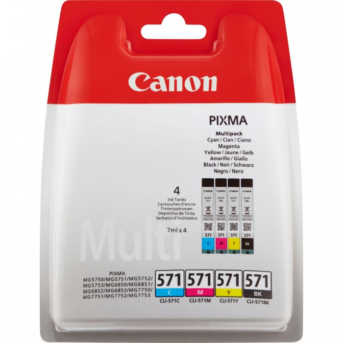 Canon Value Pack 4er Set CLI-571, CLI571
