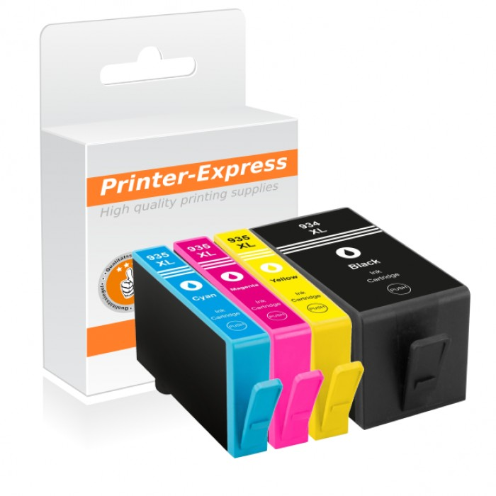 Printer-Express Druckerpatronen 4er Set ersetzt HP 934,...