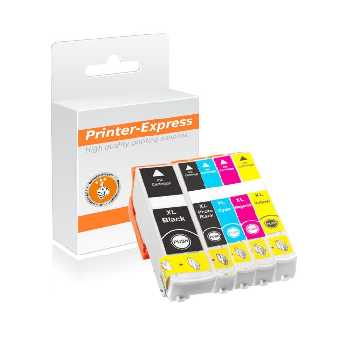 Druckerpatronen 5er Set ersetzt Epson T3351- T3364, 33XL