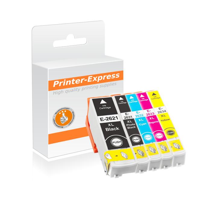 Druckerpatronen 5er Set ersetzt Epson 26, 26XL