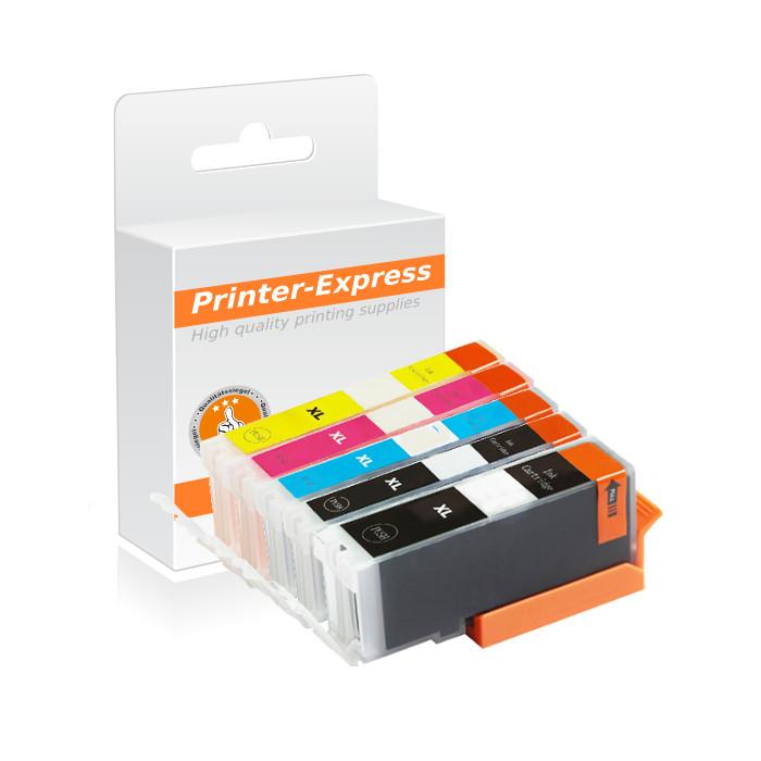 Druckerpatronen 5er Set mit Chip ersetzt Canon PGI-570,...