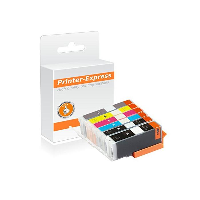 Druckerpatronen 6er Set mit Chip ersetzt Canon PGI-570,...