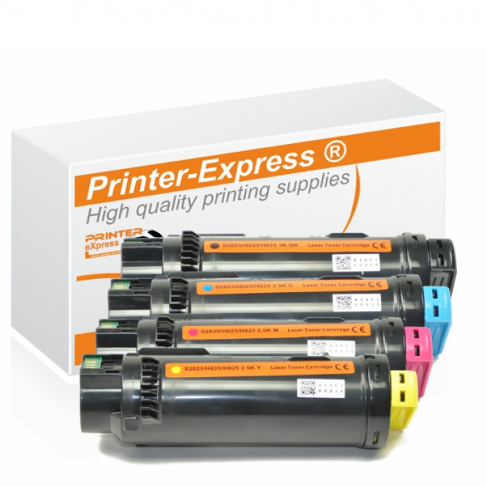 Toner 4er Set alternativ zu Dell S2825, H625, H820, H825...