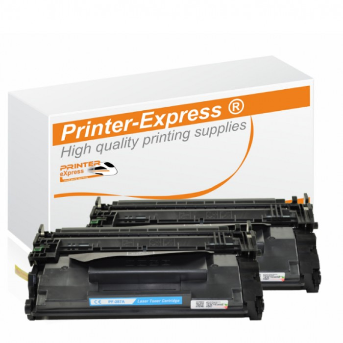 Toner 2er Set alternativ zu HP CF287A, CF287 A, 87A für...