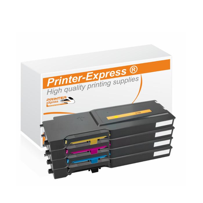 Toner 4er Set alternativ zu Dell C3760, C3765 Seiten für...