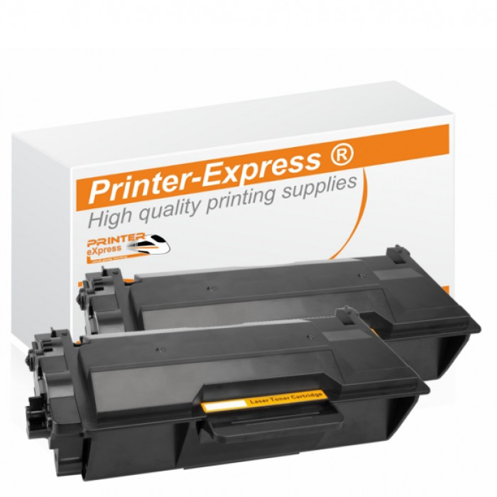 Toner 2er Set alternativ zu Brother TN-3480, TN3480 für...