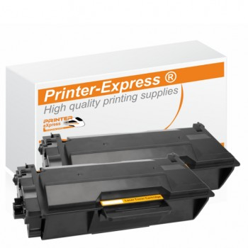2er Set alternativ Brother Toner TN-3480 schwarz