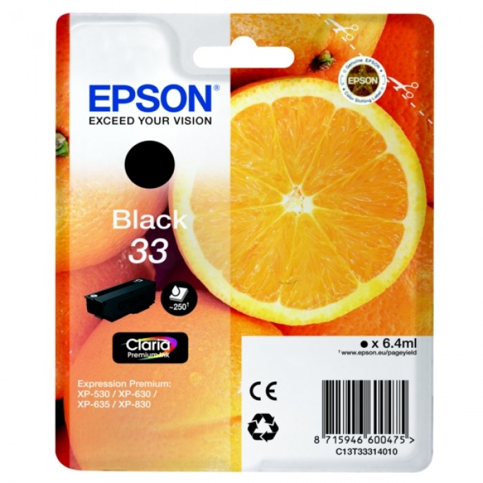 Epson T3331, 33 Druckerpatrone black
