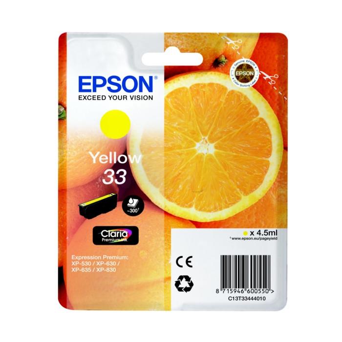 Epson T3344, 33 Druckerpatrone gelb