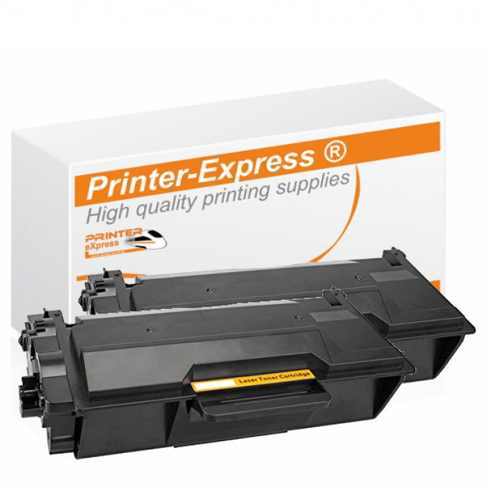 Toner 2er Set alternativ zu Brother TN-3512, TN3512 für Brother Drucker Schwarz