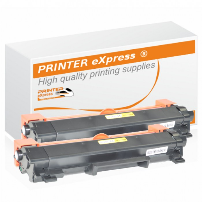 2er Set alternativ Brother Toner TN-2420 Schwarz mit Chip