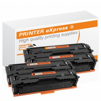 Toner 4er Set alternativ zu HP CF540A, CF541A, CF542A,...