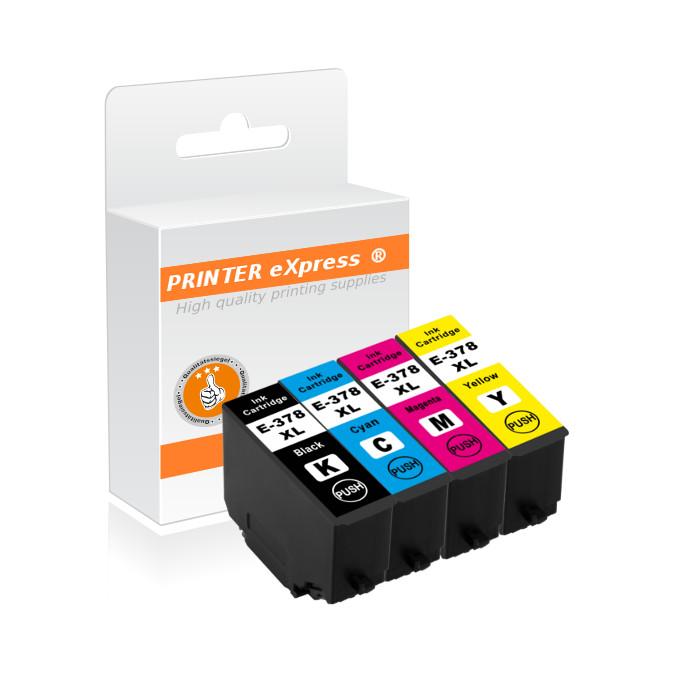Druckerpatronen 4er Set ersetzt Epson 378, 378XL