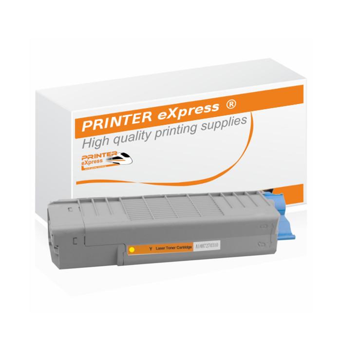 Toner alternativ zu OKI 46507505, C612 für OKI Drucker gelb