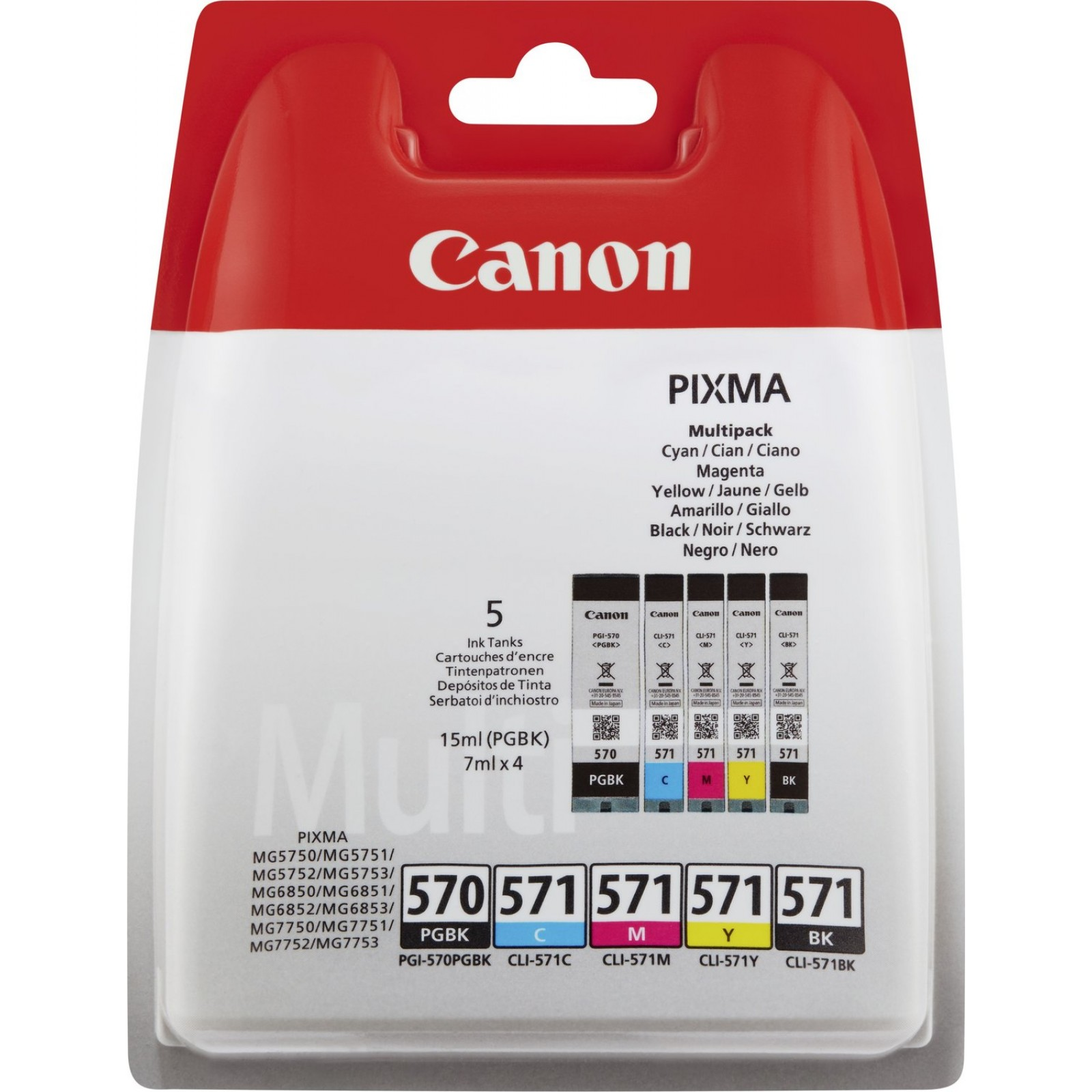 Canon Value Pack 5er Set PGI-570, CLI-571