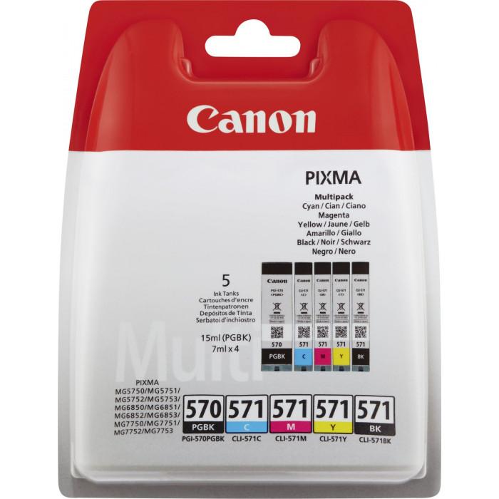 Canon Value Pack 5er Set PGI-570, CLI-571