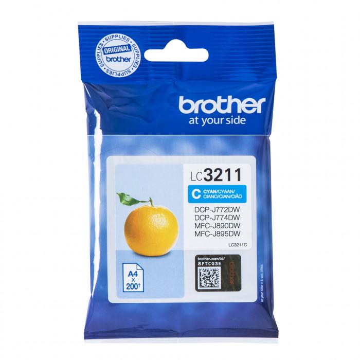 Brother LC-3211C, LC3211 Tintenpatrone cyan