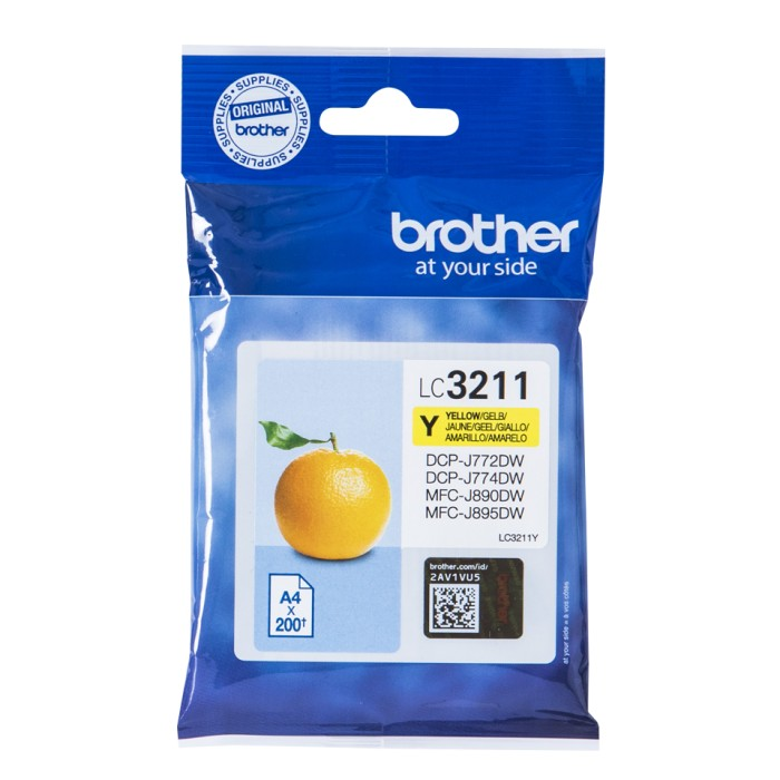 Brother LC-3211Y, LC3211 Tintenpatrone gelb